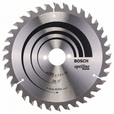 Пильный диск Bosch 190х30мм 2608640616 цена