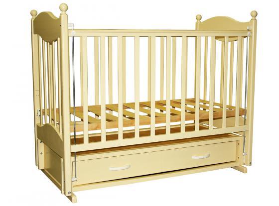 Кроватка с маятником Ведрус Эля (слоновая кость) кроватка papaloni винни 120х60см с маятником слоновая кость