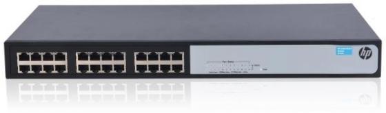 Коммутатор HP 1420-24G неуправляемый 24 порта 10/100/1000Mbps JG708B коммутатор hp 1420 24g 2sfp