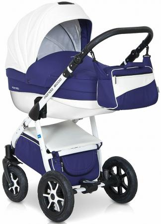 Коляска 3-в-1 Expander Mondo Ecco (24/синий-белый) коляска 2 в 1 expander mondo prime 01 stone