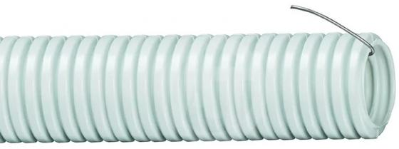 цена на Труба гофрированная ПВХ IEK 20 с зондом 20мм гибкая 100 м/упаковка CTG20-20-K41-100I