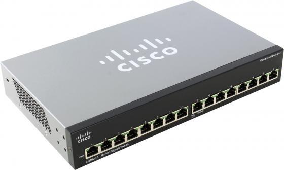 Коммутатор Cisco SG110-16-EU неуправляемый 16 портов 10/100/1000Mbps коммутатор cisco sg200 50 48 портов 10 100 1000mbps 2x combo gblan sfp slm2048t eu