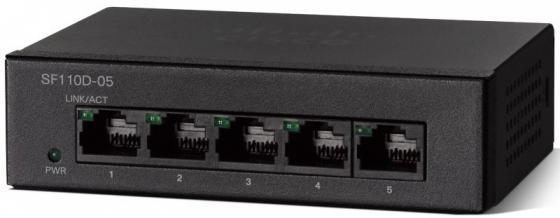 Коммутатор Cisco SF110D-05-EU 5 портов 10/100Mbps коммутатор cisco slm2008t eu slm2008teu