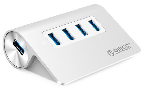 Концентратор USB 3.0 Orico M3H4-SV 4 х USB 3.0 серебристый