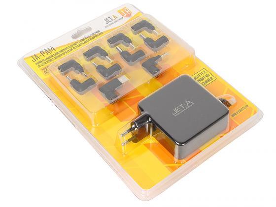 Блок питания для ноутбука Jet.A JA-PA14 45Вт с автоматическим переключением напряжения 10 переходников блок питания для ноутбука kreolz npa9018 переходников 90вт черный