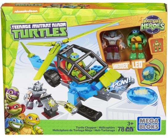 Конструктор Mega Bloks Черепашки-малыши: Черепаший вертолёт 78 элементов DMX11 mega bloks фигурка персонажа фильма черепашки ниндзя ii mega bloks
