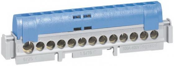 Клеммная колодка Legrand IP2X/нейтраль 04846 клеммная колодка legrand программа plexo 4 клеммы 4мм2 для распределительных коробок dlplus 31210