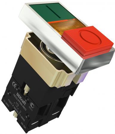 Переключатель Schneider ElectricI-O PPBB 22 мм зеленый-красный Dekraft 25062DEK