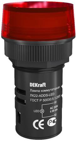 Лампа коммутационная Schneider Electric ADDS 22 мм LED 220В ЛK-22 красный 25003DEK