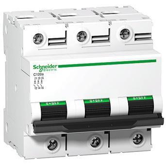 Автоматический выключатель Schneider Electric C120N 3П 80A C A9N18365 автоматический выключатель schneider electric ik60 1п 16a c a9k24116
