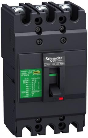 Автоматический выключатель Schneider Electric EZC100 10 KA/400В 3П/3T 100 A EZC100F3100 холодильник автомобильный термоэлектрический fiesta 30l 12v 220v
