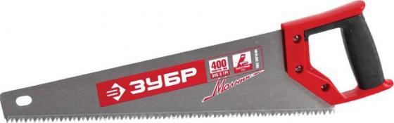 Ножовка Зубр Мастер Молния по дереву крупный зуб двухкомпонентная ручка 15075-40_z01 ножовка по дереву зубр эксперт tx900
