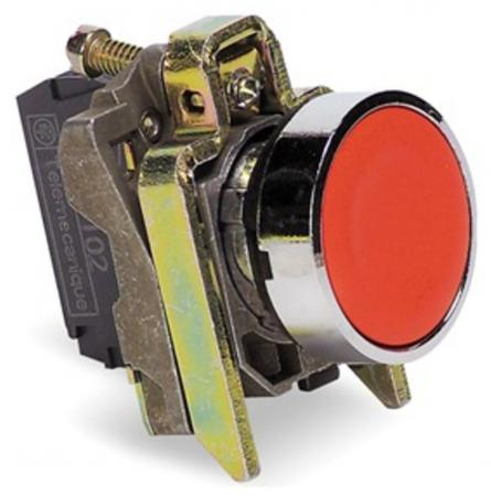 Кнопка Schneider Electric 22мм с возвратом красный XB4BA42 кнопка schneider electric xb5aa21 черный