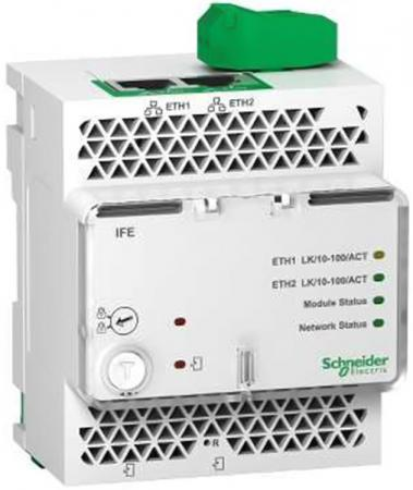 Модуль  Schneider Electric IFE LV434010 панель лицевая schneider electric actassi 1 модуль белый 24 шт vdi88240