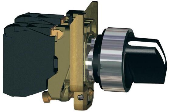 Переключатель Schneider Electric 2 позиции XB4BD25 панель передняя schneider electric непрозрачная 03801