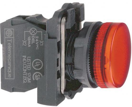 Лампа сигнальная Schneider Electric 22мм 30-240В красный XB5AVM4 блок светодиодный schneider electric 24в красный zbvb4