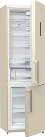 Холодильник Gorenje NRK6201MC-O серебристый бежевый