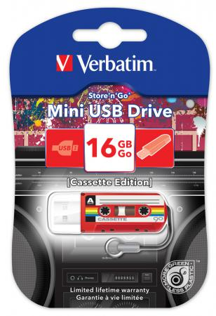Флешка USB 16Gb Verbatim Mini Cassette Edition 49398 USB красный ezcap ezcap230 usb cassette tape to mp3 converter white
