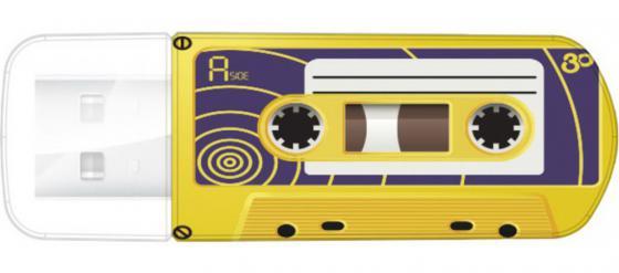 Флешка USB 32Gb Verbatim Mini Cassette Edition 49393 USB желтый portable usb cassette tape player cassette tape to mp3 converter