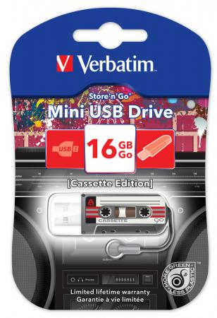 Флешка USB 16Gb Verbatim Mini Cassette Edition 49397 USB черный ezcap ezcap230 usb cassette tape to mp3 converter white
