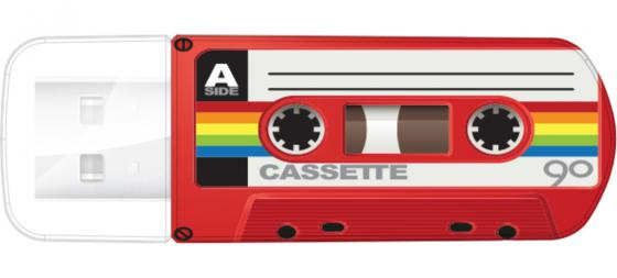 Флешка USB 32Gb Verbatim Mini Cassette Edition 49392  красный