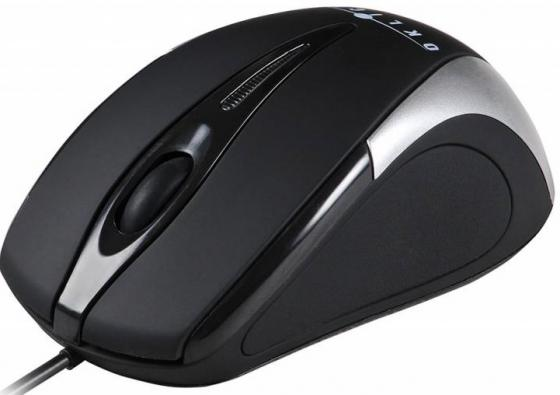 Мышь проводная Oklick 235M чёрный серебристый USB oklick 235m