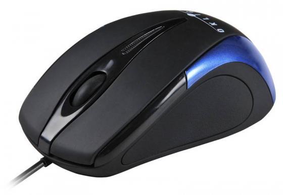 лучшая цена Мышь проводная Oklick 235M чёрный синий USB