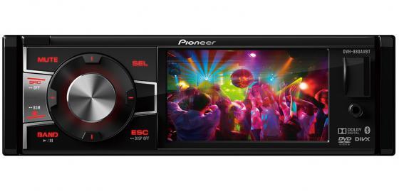 Автомагнитола Pioneer DVH-880AVBT 3.5 320х240 USB MP3 CD DVD FM 1DIN 4x50Вт черный диски cd dvd pioneer dvd r 4 7g 16x 120min50