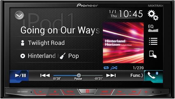 Автомагнитола Pioneer AVH-X8800BT 7 800х480 USB MP3 CD DVD FM RDS 2DIN 4x50Вт черный