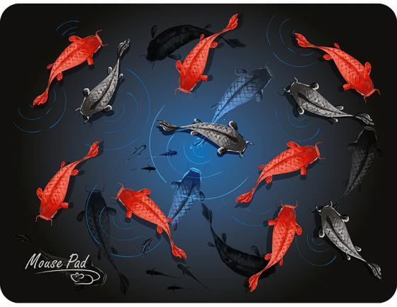 все цены на  Коврик для мыши Dialog PM-H17 fish черный с рисунком  онлайн