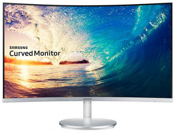 Монитор 27 Samsung C27F591FDI серебристый VA 1920x1080 250 cd/m^2 4 ms HDMI DisplayPort VGA Аудио монитор 22 benq gw2280 черный va 1920x1080 250 cd m^2 5 ms vga hdmi аудио 9h lh4lb qbe