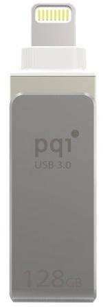 Флешка USB 128Gb PQI iConnect mini 6I04-128GR1001 серый pqi iconnect mini 64gb золотой