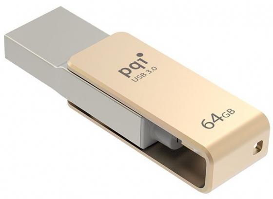 Флешка USB 64Gb PQI iConnect mini 6I04-064GR2001 золотистый