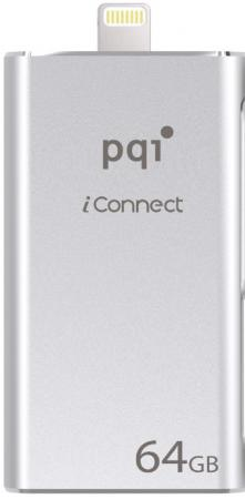 Флешка USB 64Gb PQI iConnect mini 6I04-064GR1001 серый