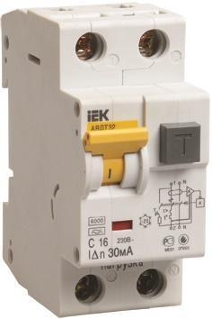 Выключатель дифференциального тока IEK АВДТ 32 C16 30мА 1П+Н MAD22-5-016-C-30
