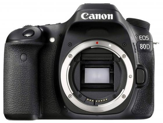 Зеркальная фотокамера Canon EOS 80D Body черный 1263C010