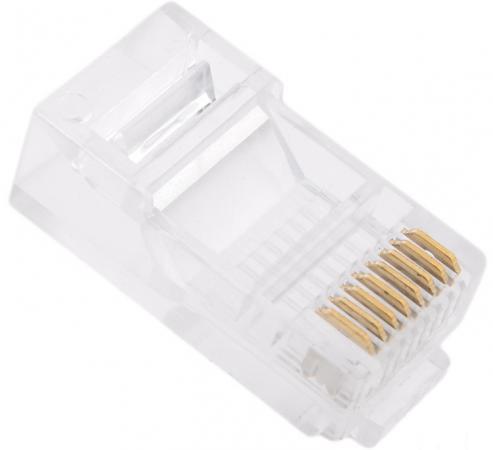 Упаковка коннекторов RJ-45 UTP 6 8P8C 100шт cтяжка пластиковая gembird nytfr 150x3 6 150мм черный 100шт