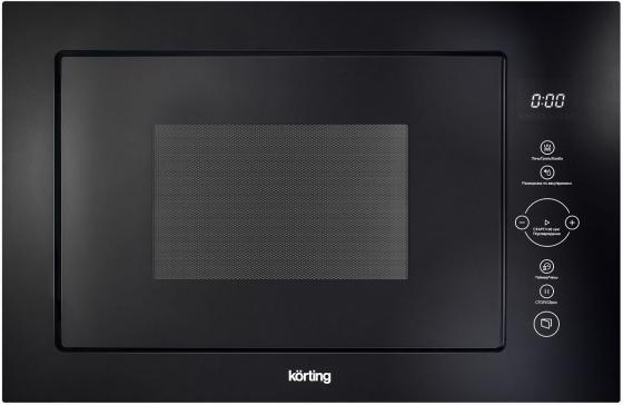 Встраиваемая микроволновая печь Korting KMI 825 TGN 900 Вт чёрный