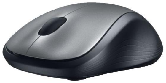Мышь беспроводная Logitech M310 Wireless Mouse чёрный серебристый USB + радиоканал 910-003986