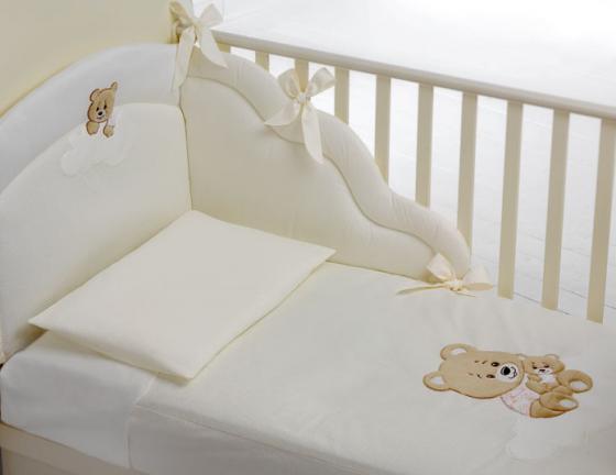 Постельный сет 4 предмета Baby Expert Abbracci (пододеяльник, бампер, одеяло и наволочка/крем) постельный сет 4 предмета baby expert cuore di mamma крем золото