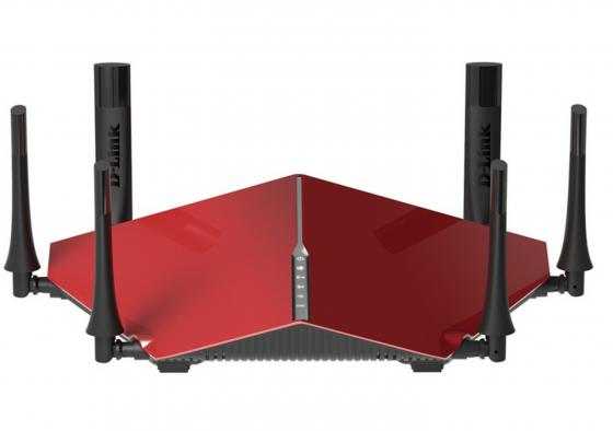 Беспроводной маршрутизатор D-Link DIR-890L/R/A1A 802.11aс 3200Mbps 5 ГГц 2.4 ГГц 4xLAN USB USB3.0 красный беспроводной маршрутизатор d link dir 620 a e1a d1b ga h1a 802 11n 300mbps 2 4ghz 4xlan usb