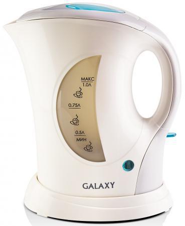 Чайник GALAXY GL0105 900 Вт белый 1 л пластик чайник galaxy gl0504 1400 вт белый 1 2 л керамика