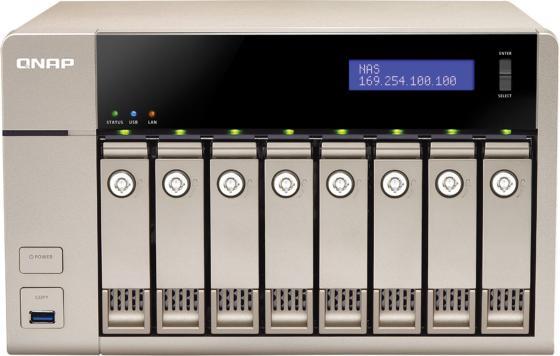 Сетевое хранилище QNAP TVS-863+-8G сетевое хранилище qnap tvs 863 16g intel 2 0ггц 8x2 5 3 5hdd hot swap raid 0 1 5 6 10 2xgblan 5xusb hdmi