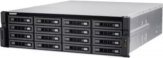 Сетевое хранилище QNAP TS-EC1680U-E3-4GE-R2 16 отсеков для жестких дисков сетевое хранилище qnap ts 873 4g без дисков