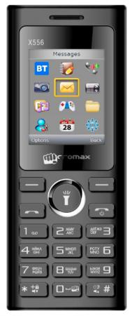 Мобильный телефон Micromax X556 черный 1.77 32 Мб мобильный телефон micromax x649 white