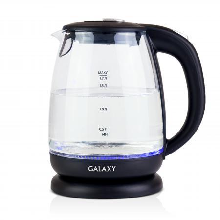 Чайник GALAXY GL0550 2200 Вт 1.7 л пластик/стекло чёрный прозрачный oss 01 2m