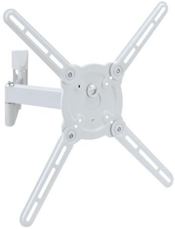 Кронштейн Kromax ATLANTIS-15 белый 22-65 наклонно-поворотный VESA 400x400 до 40кг кронштейн наклонно поворотный kromax techno 2 15 26 до 15кг vesa до 100x100 чёрный