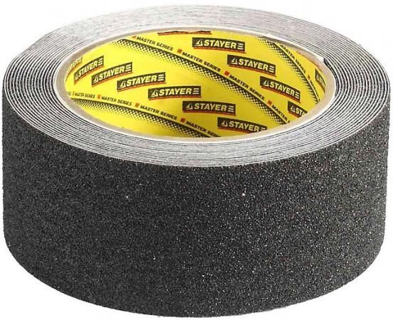 Лента Stayer PROFI клейкая противоскользящая 50мм х 5м 12270-50-05 лента клейкая двусторонняя folsen ткань 50мм х 5м