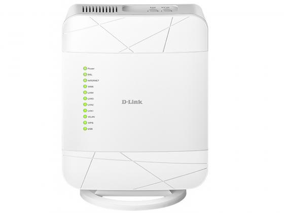 Беспроводной маршрутизатор D-Link DSL-G225/U1A 802.11bgn 300Mbps 2.4 ГГц 4xLAN USB белый