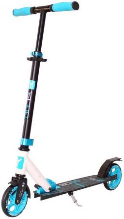 цена на Самокат двухколёсный Y-SCOO RT 145 CITY Hong Kong NEW Technology aqua-white голубой